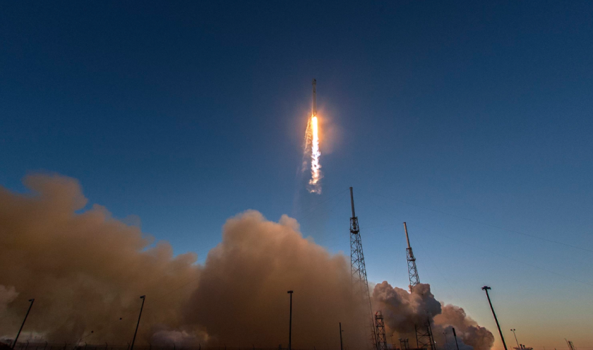 A rocket blasting off into space, signalling a new era of hardware development