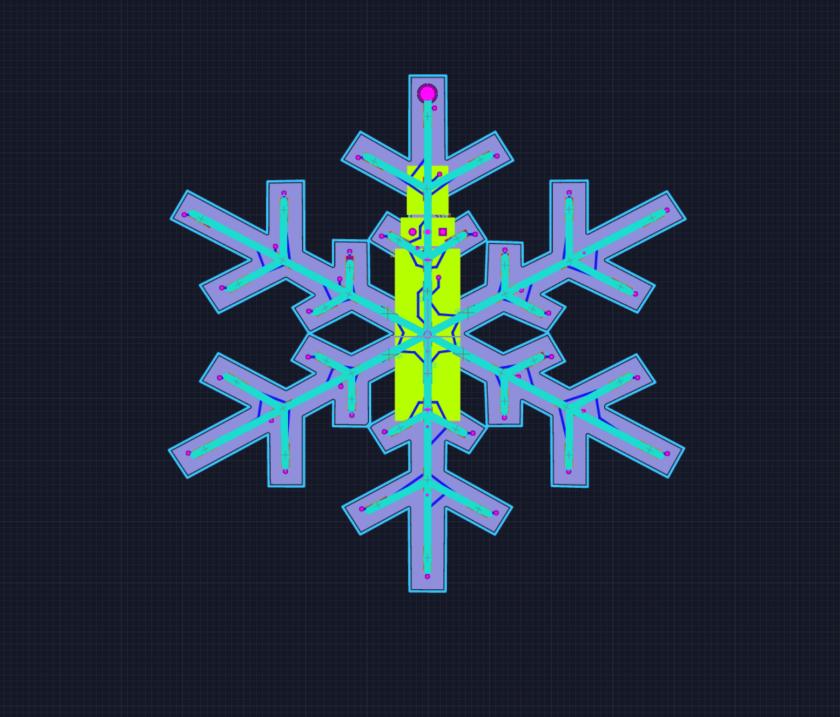 Snowflake pcb layout