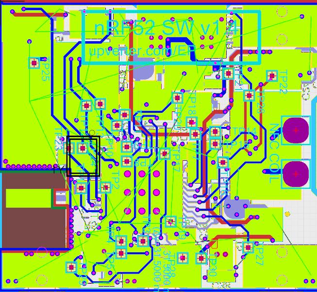 nRF52 smartwatch PCB layout