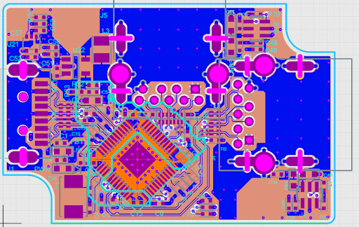 PCB layout in Upverter for circuit design online